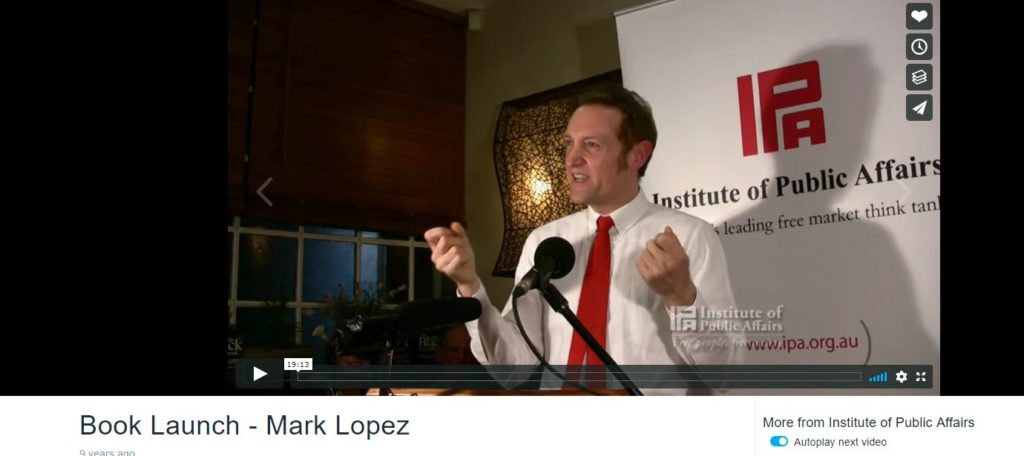 Institute-of-Public-Affairs-Book-Launch-Mark-Lopez-PhD-video
